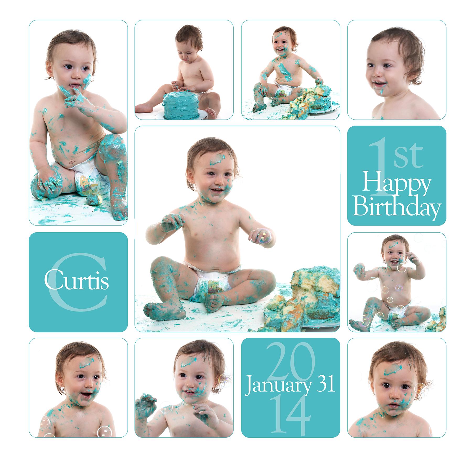 Cake Smash Collage - Cake Smash and First Birthday Photos Geelong