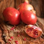 Pomegranate sections