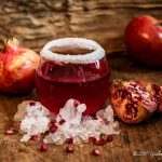 Iced pomegranate section