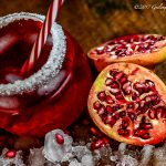 Cool drink with pomegranates