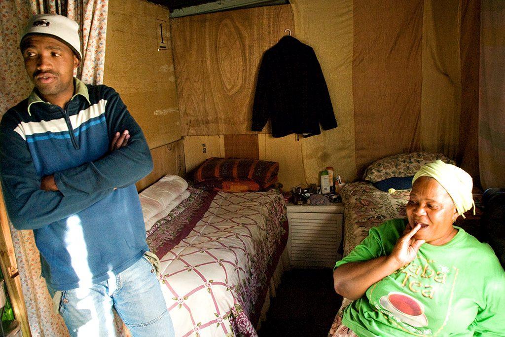 Corrugated iron shack - shanty town, soweto