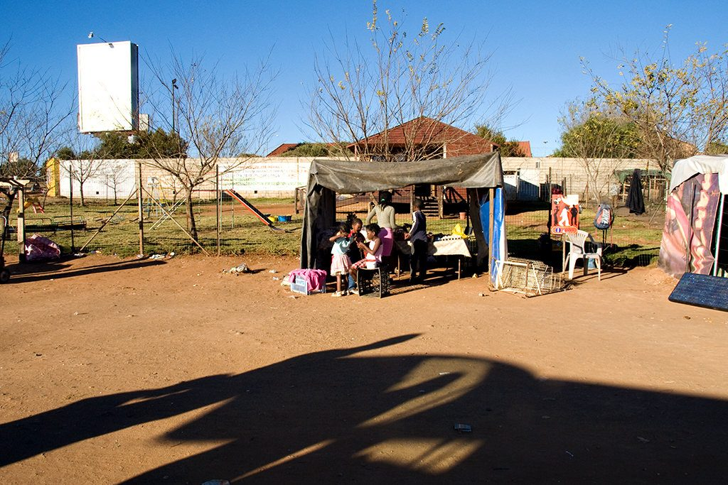 Market stall in shanty town in Soweto